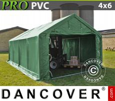 Storage shelter PRO 4x6x2x3.1 m, PVC, Green