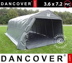 Portable Garage PRO 3.6x7.2x2.68 m PVC, with ground cover, Grey