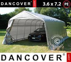 Portable Garage PRO 3.6x7.2x2.68 m PE, Grey