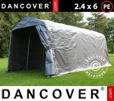 Storage tent PRO 2.4x6x2.34 m PE, Grey