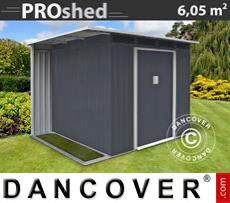 Garden Shed w/overhang, 2,57x2,69x1,87m ProShed, Anthracite