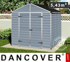 Polycarbonate Garden shed, SkyLight, 2.29x2.29x2.34 m, Dark Grey