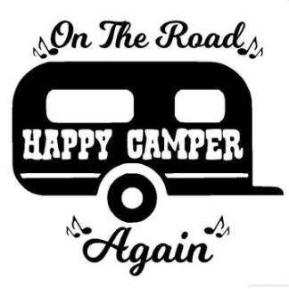 Lilly Happy Camper Decal