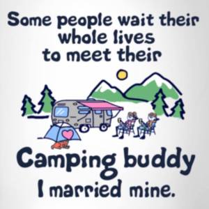 I Married My Camping Buddy iron-on decal