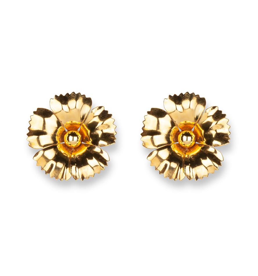 luxury designer stud earrings face mask-friendly