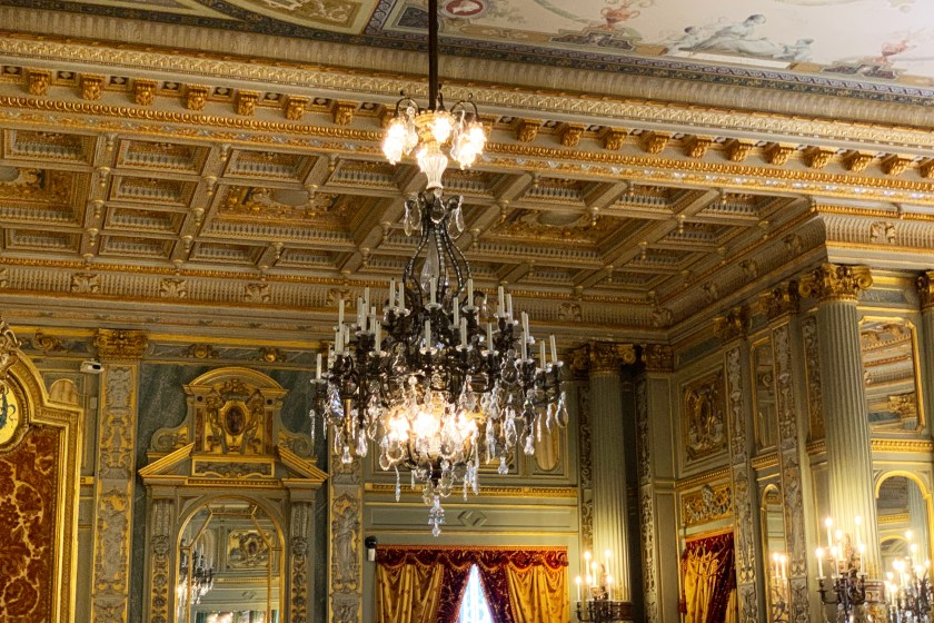 Photos from a tour of the Breakers mansion in Newport, Rhode Island.