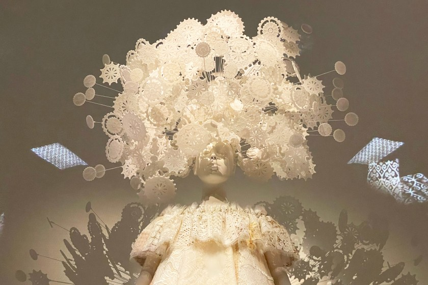 """Photos of the Met' """"About Time"""" 2020 Fashion Exhibit."""