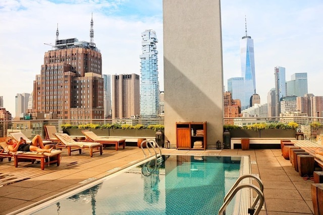 rooftop hotel pools NYC