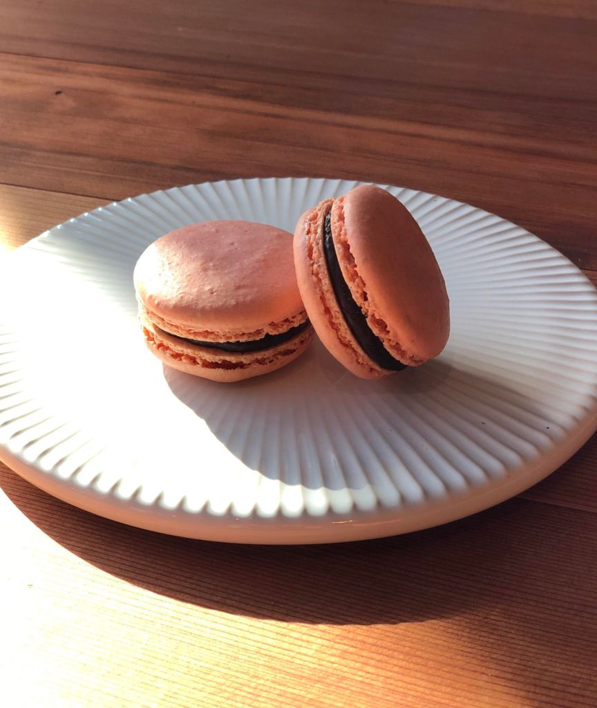 Dandelion Chocolate chocolate ganache macaron for Valentine's Day