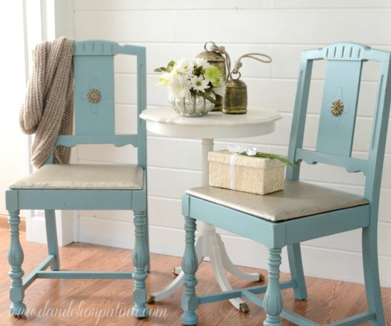 Annie Sloan Provence Chairs from Dandelion Patina