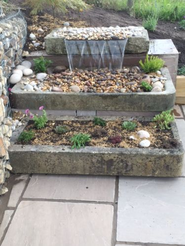 3 Tier Stone Trough Water Feature