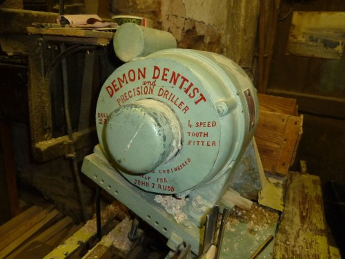 Close up of the 'Demon Dentist' machine