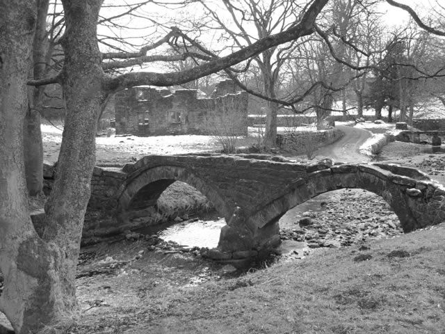The Packhorse Bridge At Wycoller, Near Colne, Lancashire