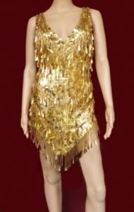H050 Tina Turner Dress Dance Sequin Dress