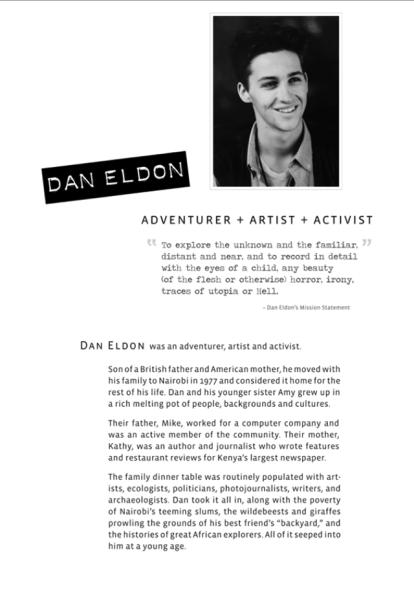 About Dan Eldon - Text Panel 1.