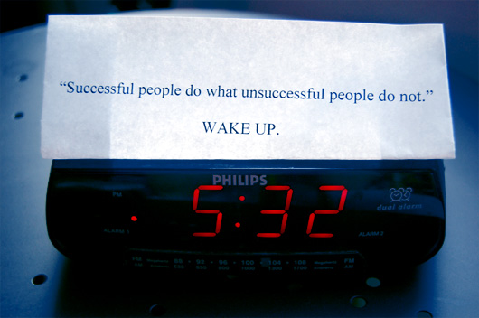 The Snooze Bar Won't Bring You Success – WAKE UP!