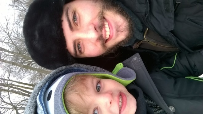 Selfie - me and my son.
