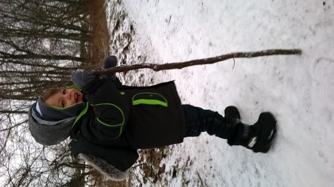 My son walking the trail like a pro!