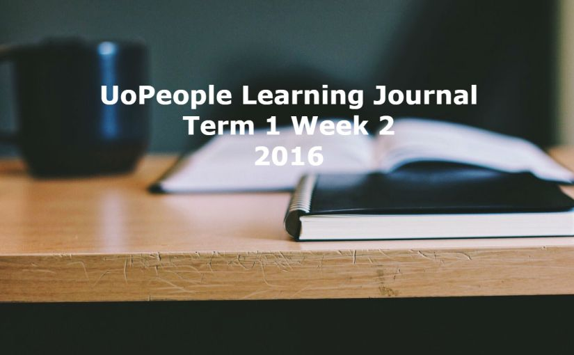 UoPeople Learning Journal: Term 1 Week 2 2016
