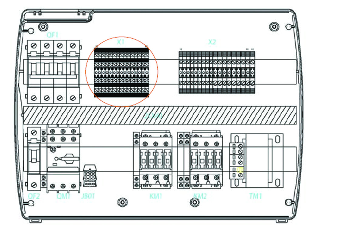 hight resolution of the au parameter must never be set at 4 as the pump down function is made electro mechanically inside the panel