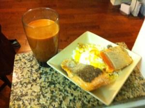 Carrot orange pomegranate juice