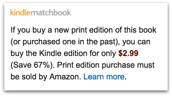 Kindle matchbook Amazon bundling.52 PM
