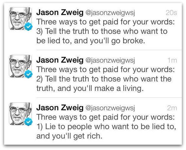 make money as a writer by Jason Zweig