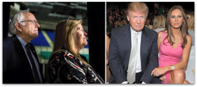 Donald Trup v Bernie Sanders wife
