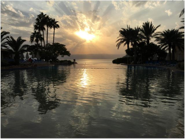 Sunset Jordan Dead Sea