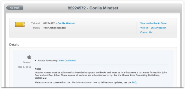 Apple censors books Gorilla Mindset.25 PM