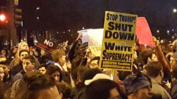 Chicago Trump Rally Outside UIC Pav