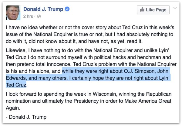 Donald Trump Ted Cruz Sex Scandal.23 PM
