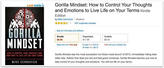 Gorilla Mindset by Mike Cernovich reviews on Amazon.57 PM