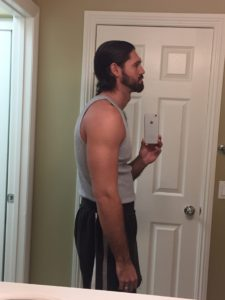 Beta Male posture sideview