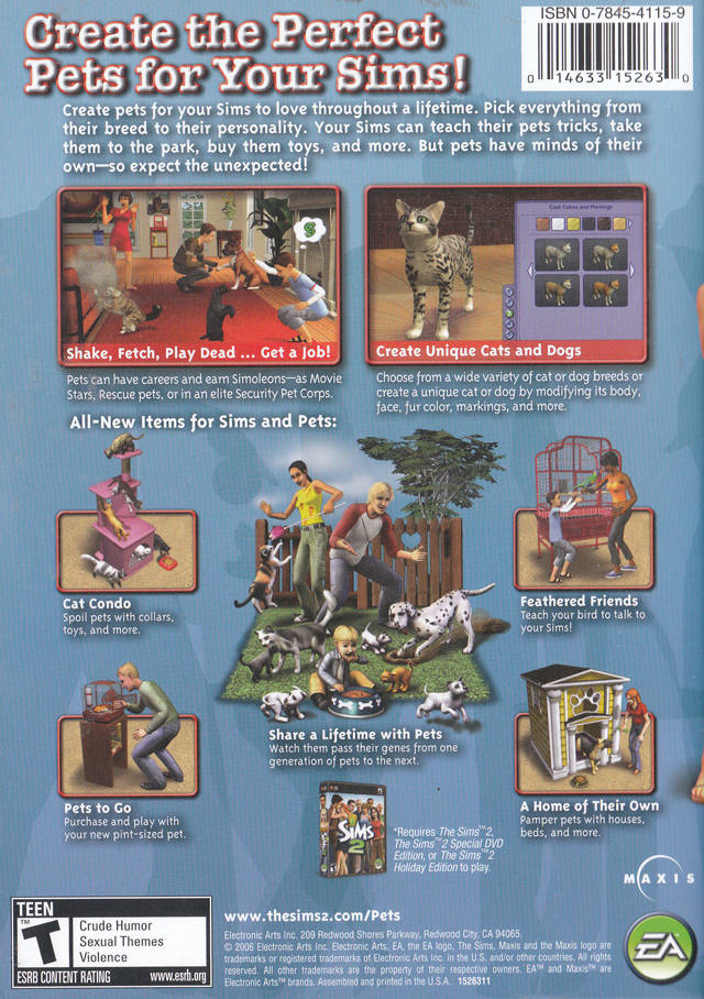 Sims 2 Pets (Back)