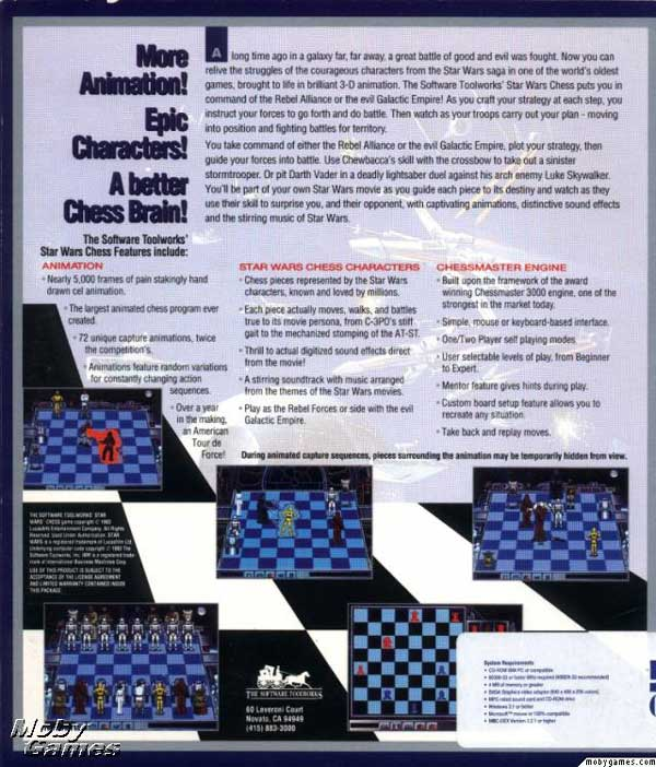 Star Wars Chess (Back)