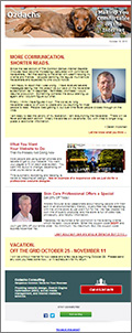 Internet marketing newsletter for October, 2013