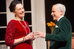 Sylvia Kratins as Carlotta Gray and John Fisher as Sir Hugo Latymer in Noel Coward's A SONG AT TWILIGHT.