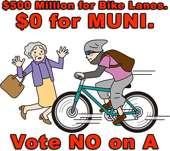 $500 Million for Bike Lanes. $0 for MUNI.
