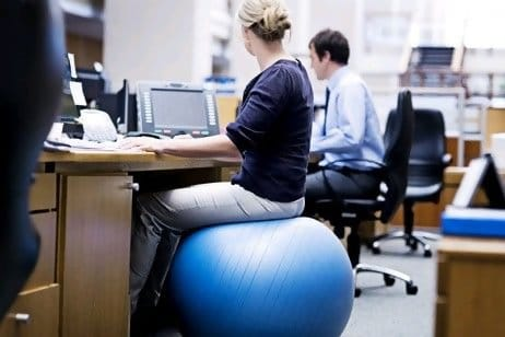 desk chair or exercise ball special needs bath chairs for toddlers using stability as an office