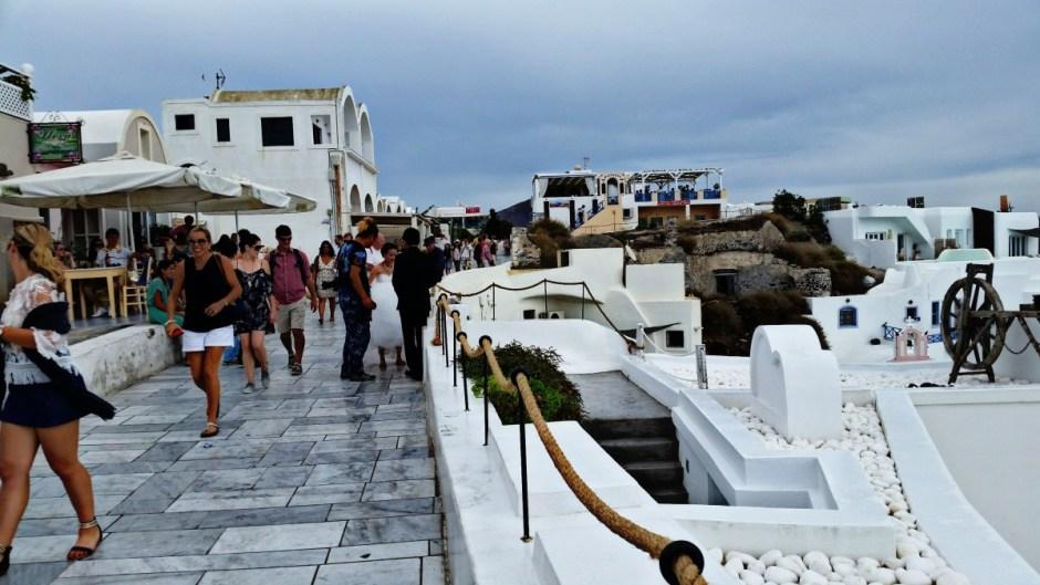 Walkways in Oia, Santorini