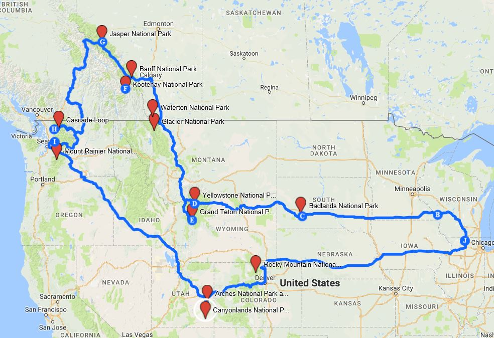 national-park-road-trip-map