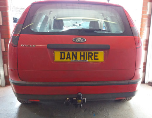 Ford Focus Estate    fitted with Towbar by Mark at DanHIRE TOWBARS