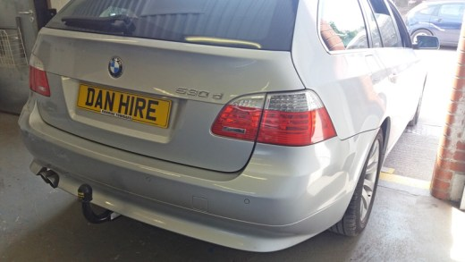 BMW-fitted-with-Detachable-Towbar-at-DanHIRE-TOWBARS