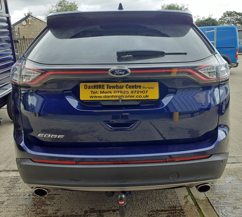 Towbar Fitted! WITTER Detachable Towbar with 13 pin dedicated electrics fitted to New Ford Edge DanHIRE Towbars Norfolk and Suffolk