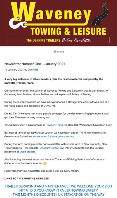 Towing and Leisure Newsletter