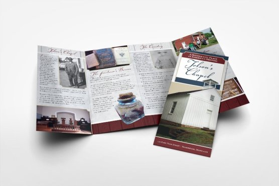 Brochure design for historical site, Tolson's Chapel.
