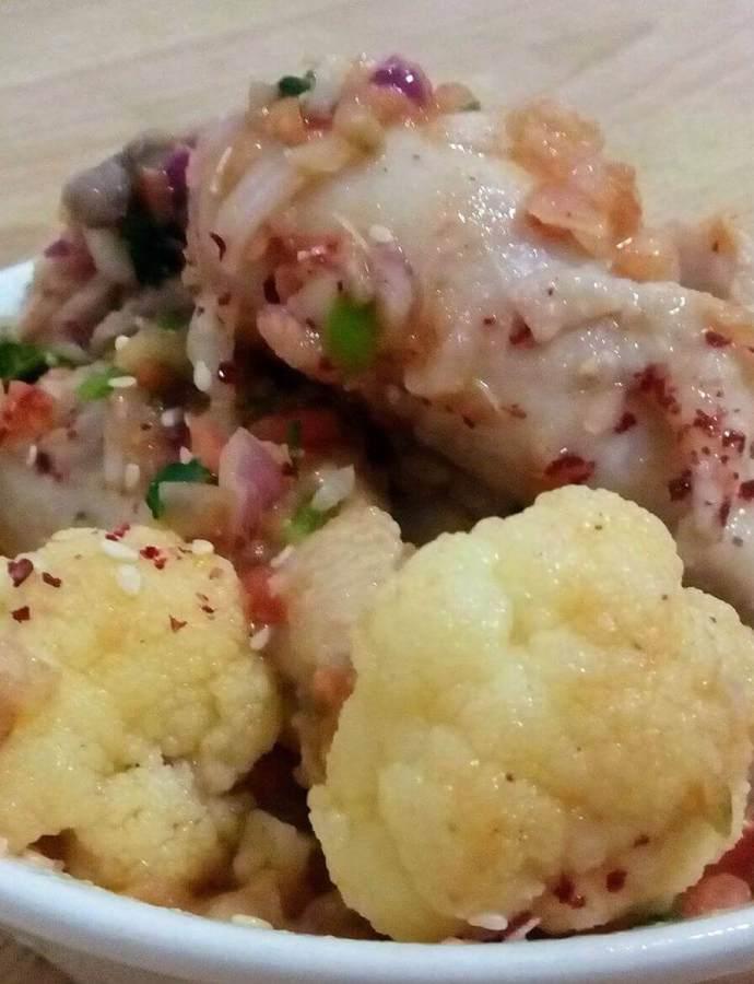 Juicy Chicken Cabbage/Califlower Stir Fry Recipe