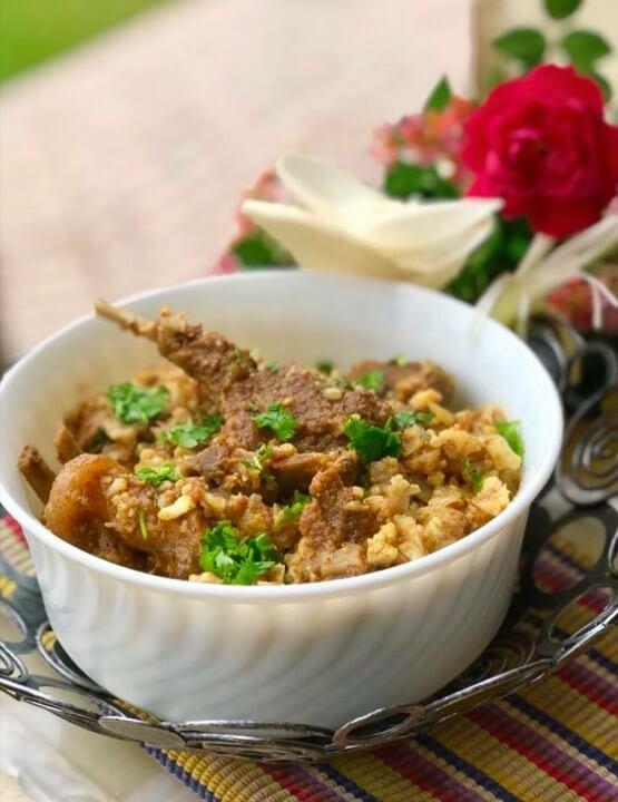 Meat and Cabbage/cauliflower Recipe (Gobhi Gosht):
