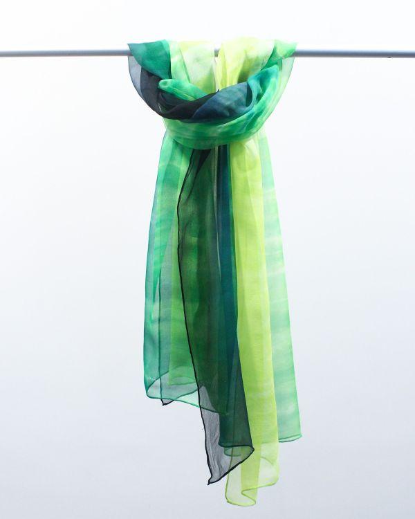 Chal de seda verde